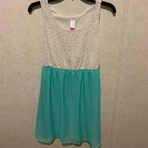 Teal and White dress